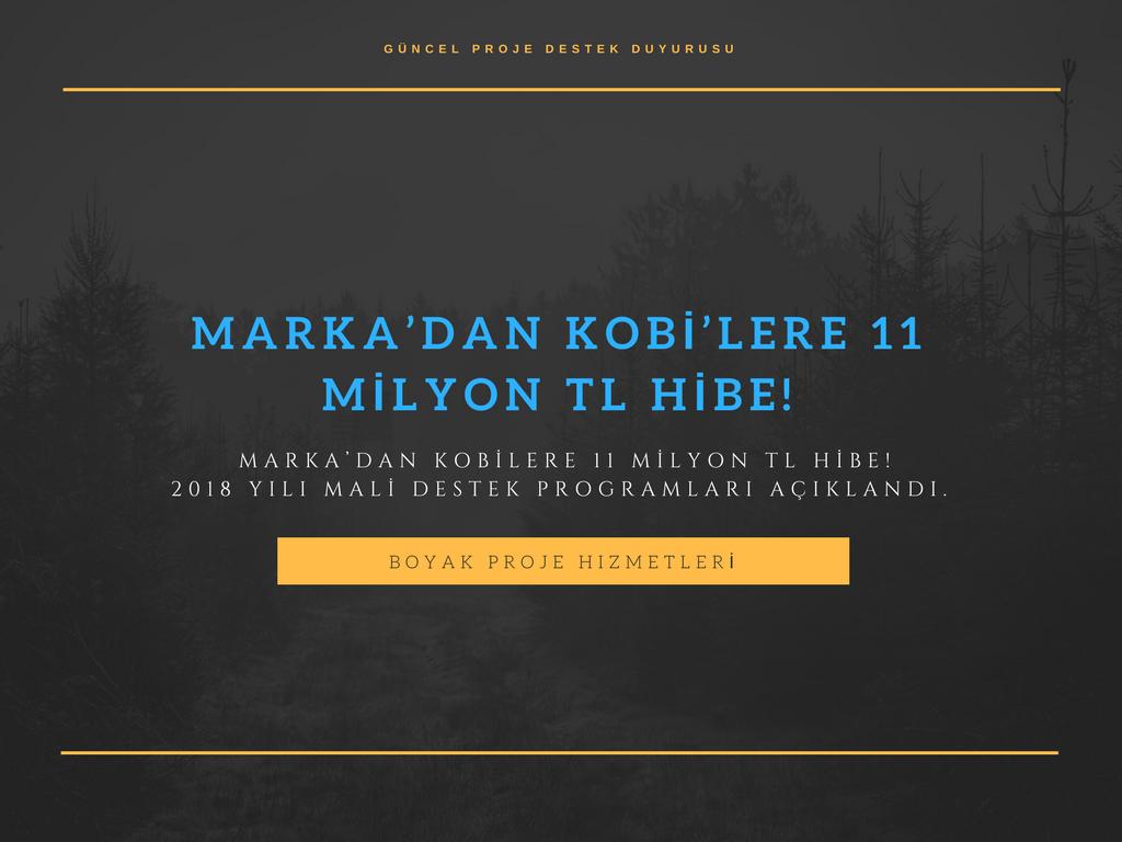 MARKA'DAN KOBİLERE 11 MİLYON TL HİBE!