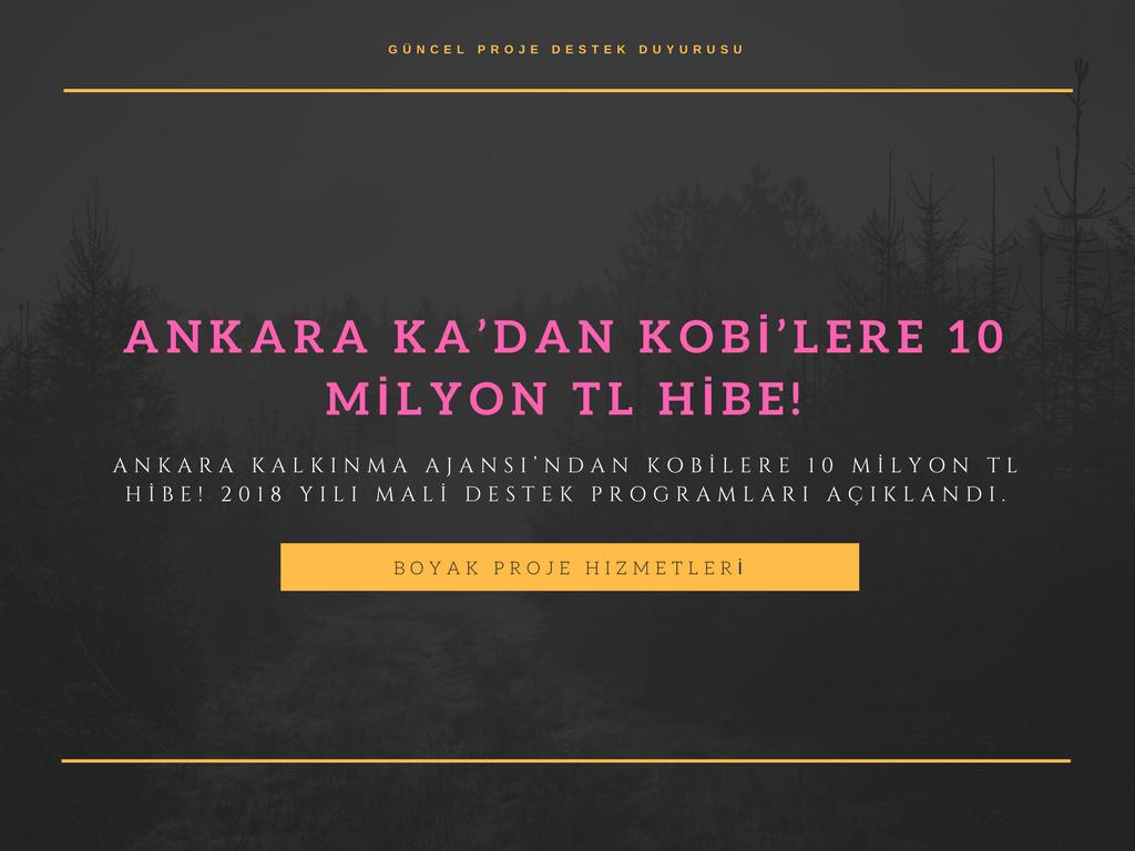 ANKARA KA'DAN KOBİLERE 10 MİLYON TL HİBE!