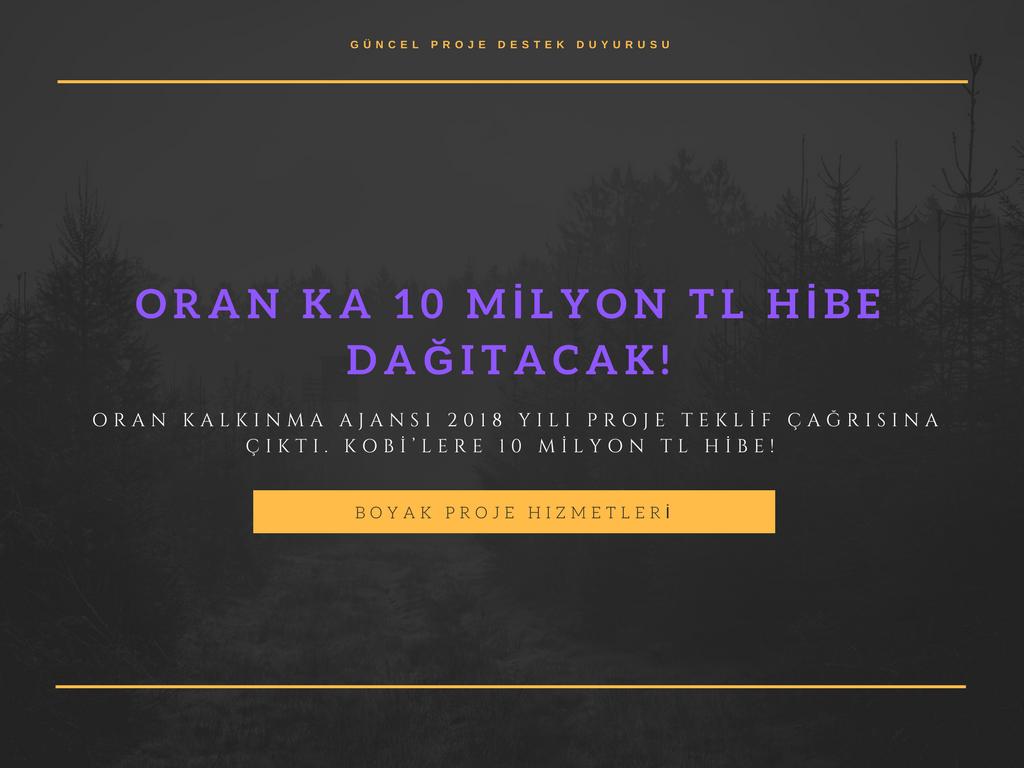ORAN KA'DAN 10 MİLYON TL HİBE!
